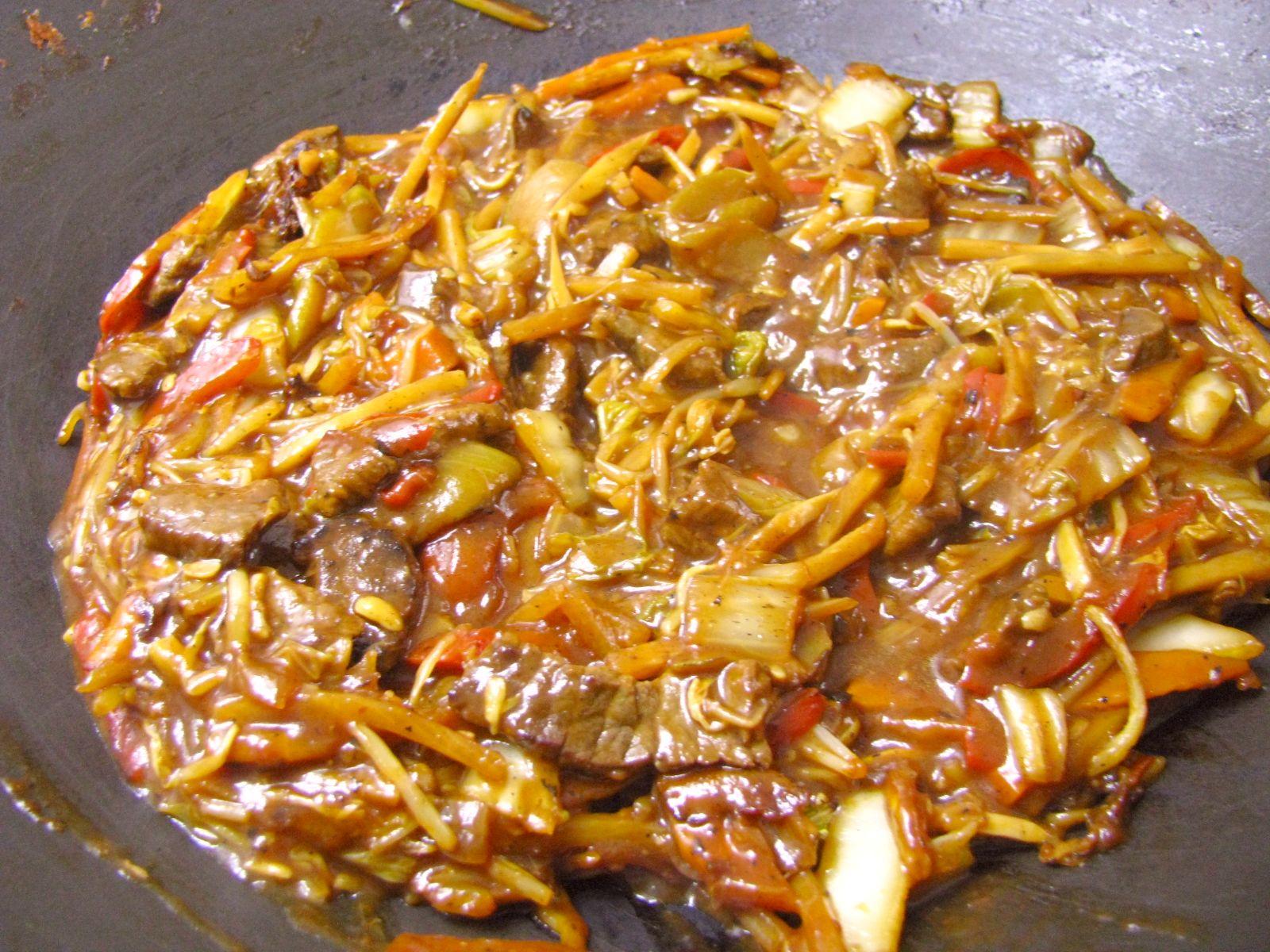 hovadzia cina vo woku