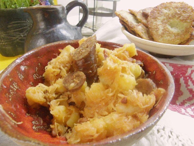 krumple s klobasou hlavna