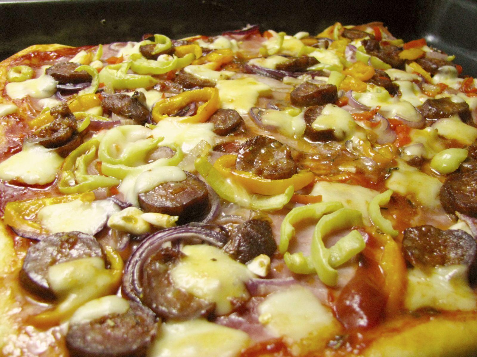 pizza potretie vajcom